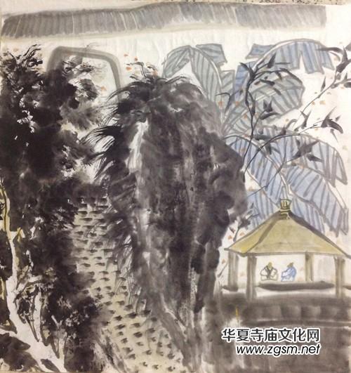 实力派山水画家牛建华国画艺术欣赏_华夏寺庙文化网
